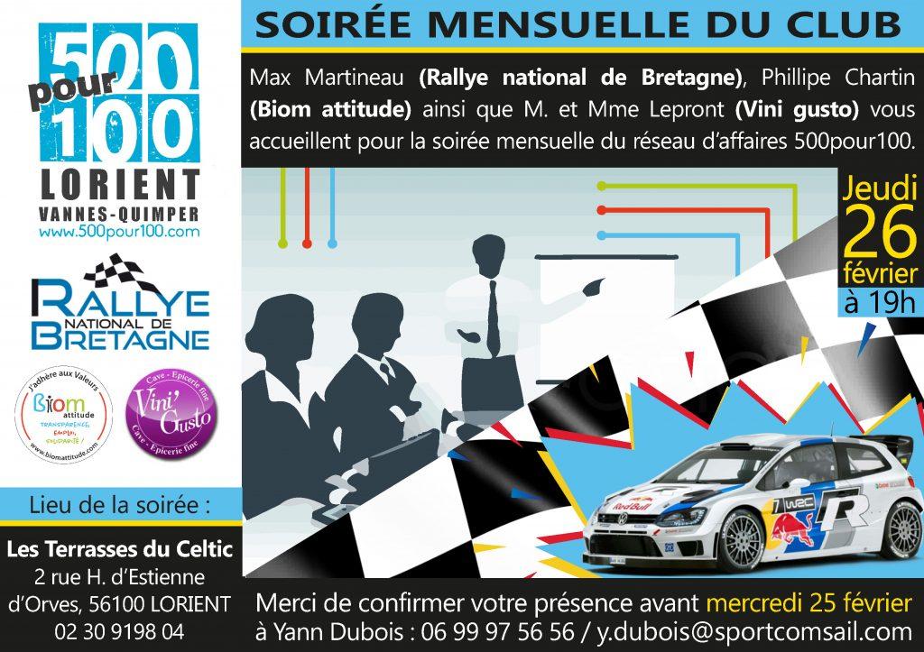 flyer soirée rallye 6